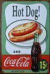 Fém kép Hot Dog, cola