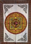 Mandala textil falikép 3