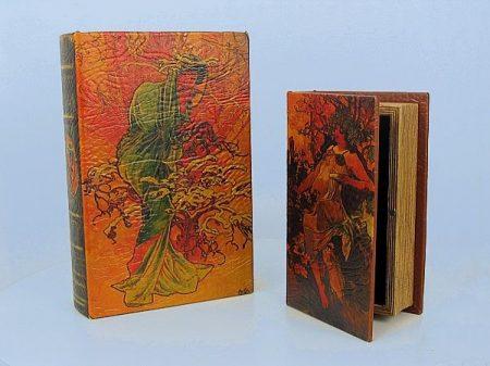 Könyv alakú doboz 2 db (Mucha képes)