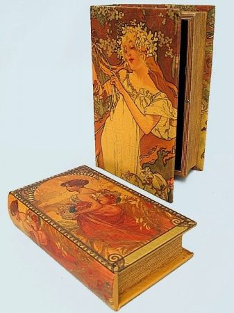 Könyv alakú doboz 2 db (Mucha)