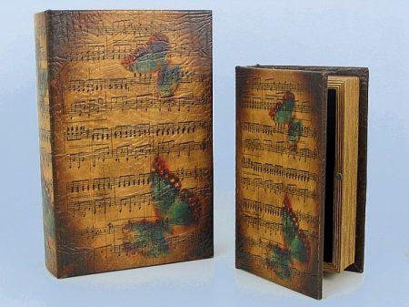 Könyv alakú doboz 2 db (LEPKÉS)